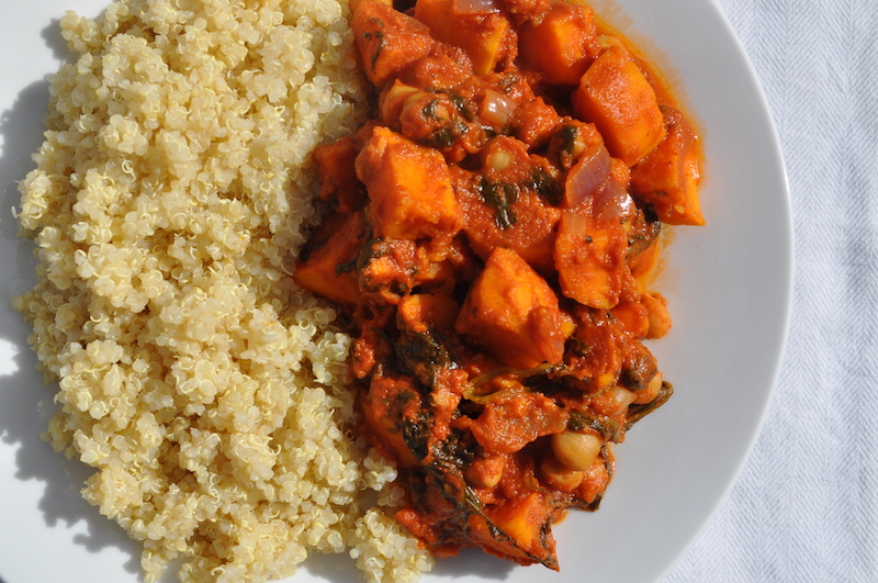 Sweet Potato and Chickpea Rogan