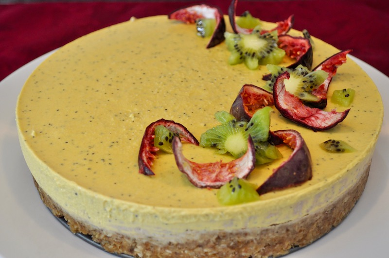 Passionfruit and Mango Tart